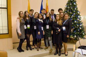 Andree Prees Leedu rahvuslikul Noorteparlamendi sessioonil